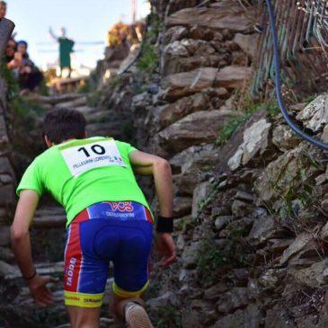 La gara in verticale nel borgo di Manarola è stata vinta da Lorenzo Pellegrini e Gloria Giudici